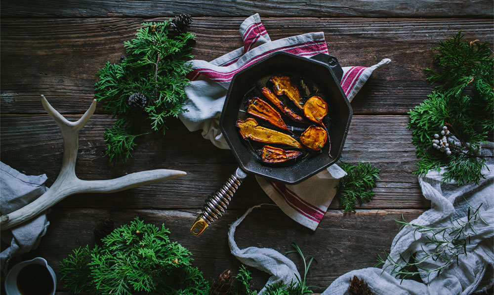 FINEX Brand Assets - Roasted Carrots in No. 8 Skillet