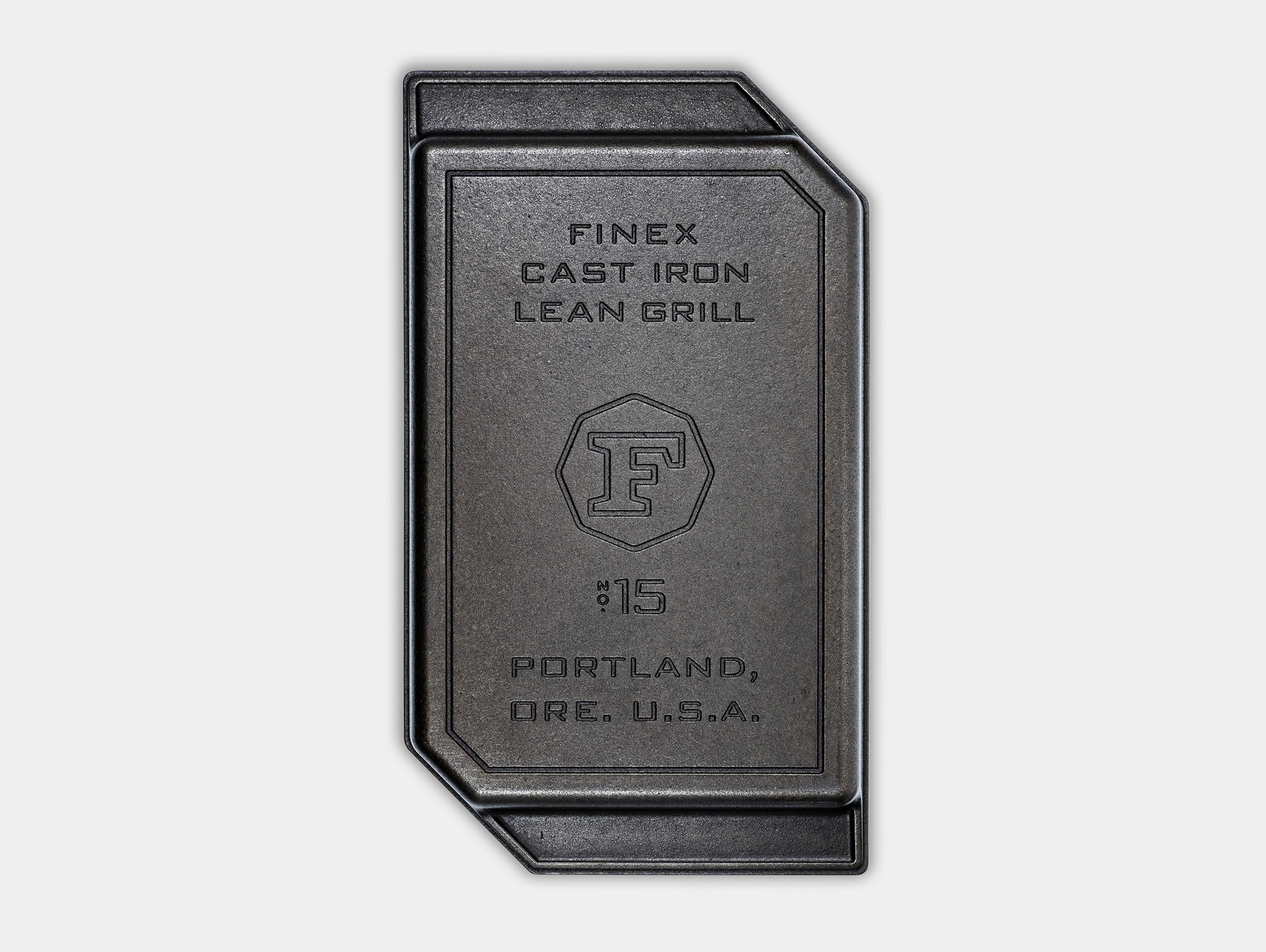 "FINEX 15"" Lean Grill Pan - Overhead View, Bottom"
