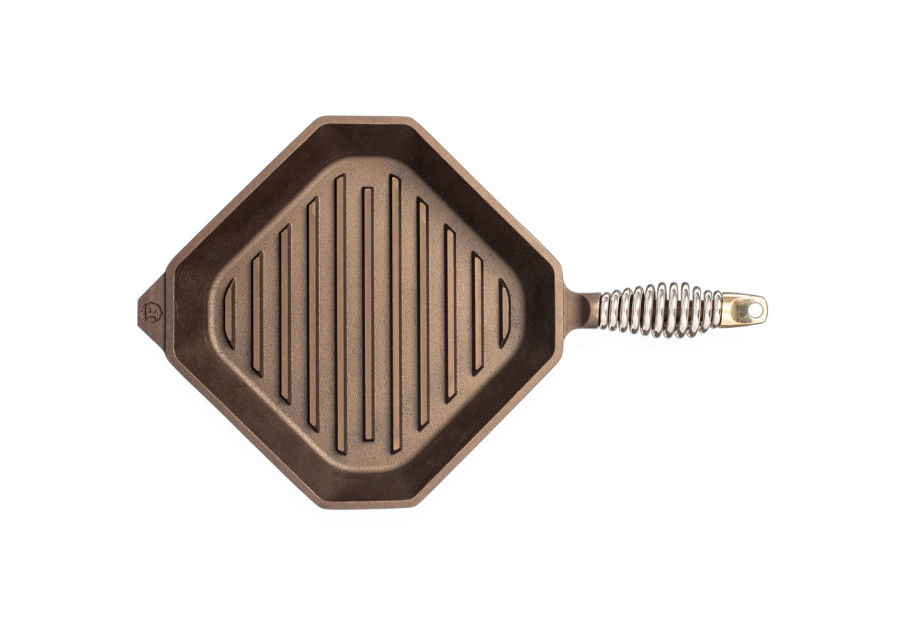 """FINEX 10"""" Grill Pan - top view"""