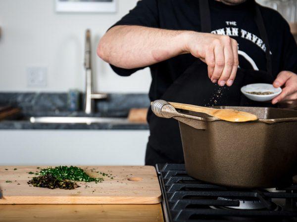 FINEX cast iron dutch oven seasoning