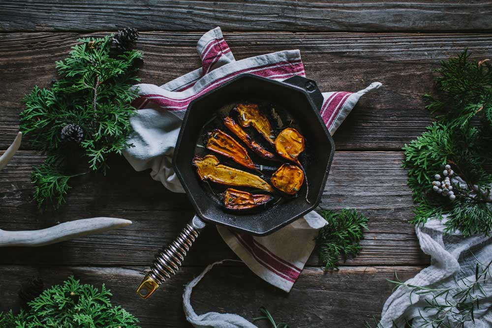 "Maple Balsamic Roasted Carrots With The FINEX 8"" Cast Iron Skillet"