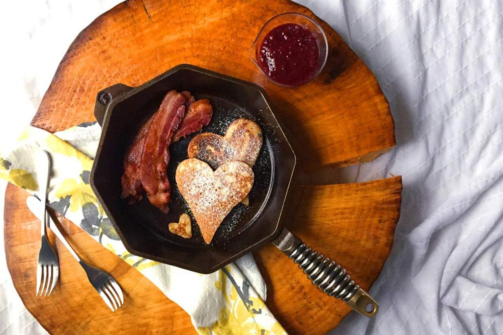Valentines day cast iron breakfast