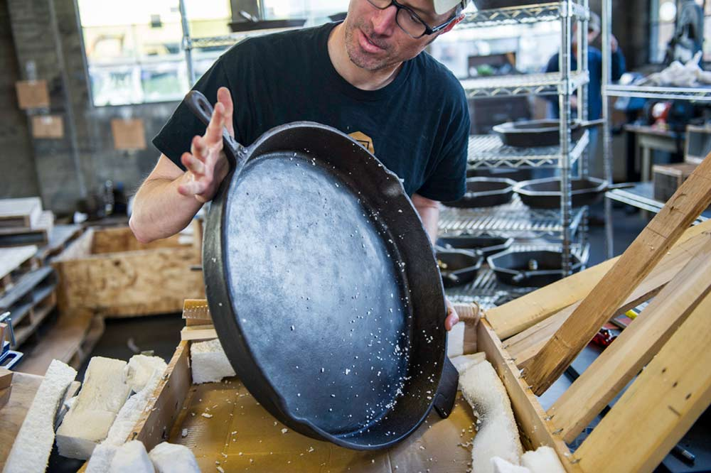 World's largest cast iron skillet unboxed